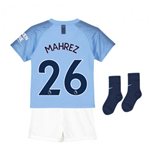 2018-2019 Man City Home Nike Little Boys Mini Kit (Mahrez 26)