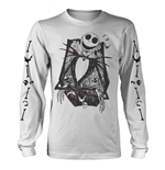 The Nightmare Before Christmas T-Shirt Jack Crossed Arms Sleeve (WHITE)
