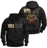 Volbeat Men's Pullover Hoodie: Bleeding Crown Skull (Back Print)