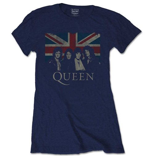 Queen Ladies Tee: Vintage Union Jack