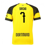 2018-2019 Borussia Dortmund Puma Home Football Shirt (Sancho 7)