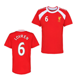 Official Liverpool Training T-Shirt (Red) (Lovren 6)