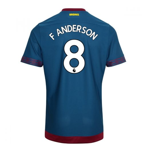 2018-2019 West Ham Away Football Shirt (F Anderson 8)