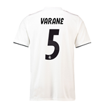 2018-19 Real Madrid Home Football Shirt (Varane 5) - Kids