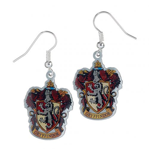 Harry Potter Silver Plated Earrings Gryffindor