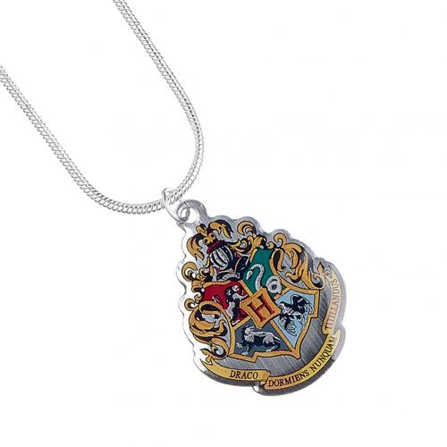 Harry Potter Silver Plated Necklace Hogwarts