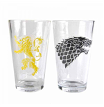 Game of Thrones Drinking Glass 2-Pack Stark & Lannister