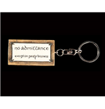 Lord of the Rings Key Ring No Admittance 6 cm