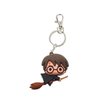 Harry Potter Rubber Keychain Harry Potter & Broom Nimbus 7 cm
