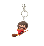 Harry Potter Rubber Keychain Harry Potter & Broomstick 7 cm