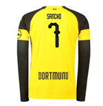 2018-2019 Borussia Dortmund Home Long Sleeve Puma Shirt (Sancho 7) - Kids