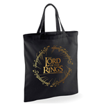 Lord Of The Rings - Gold Foil Logo - Bag Black