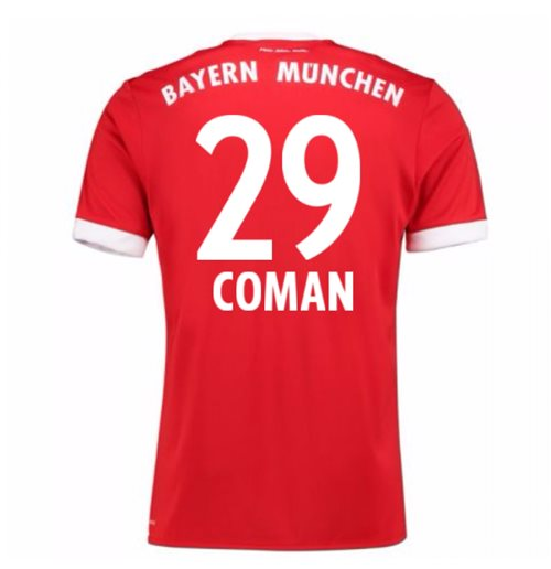 2017-18 Bayern Munich Home Short Sleeve Shirt (Coman 29)