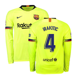 2018-2019 Barcelona Away Nike Long Sleeve Shirt (I.Rakitic 4)