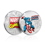 Marvel Collectable Coin Captain America (silver plated)