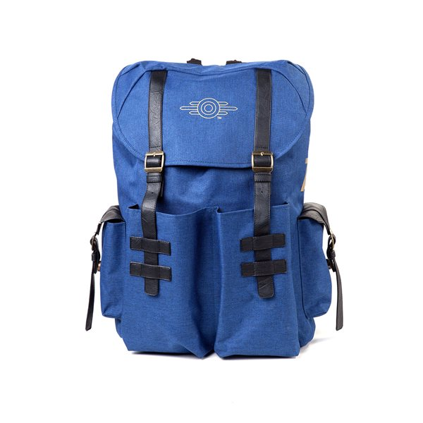 Fallout - Gold Foil Logo Printed Solid Blue Melange Backpack