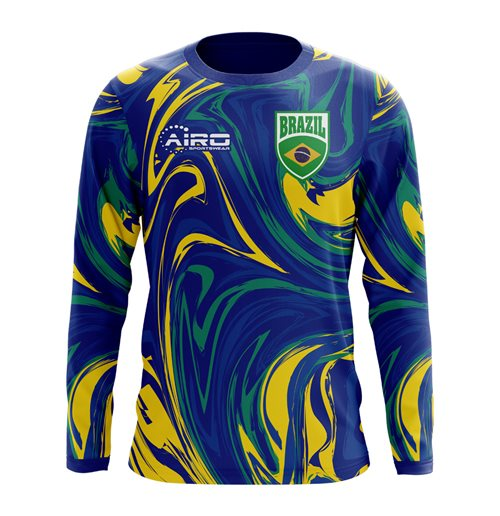 2018-2019 Brazil Long Sleeve Away Concept Football Shirt