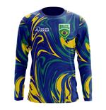 c2d0ba7ddcd 2018-2019 Brazil Long Sleeve Away Concept Football Shirt