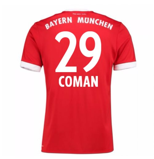2017-18 Bayern Munich Home Short Sleeve (Kids) (Coman 29)