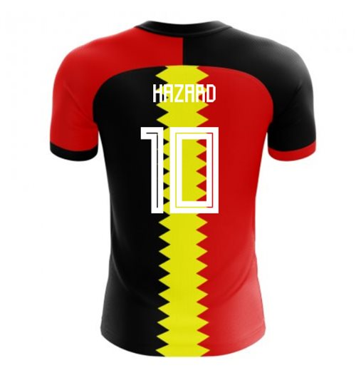 2018-2019 Belgium Flag Concept Football Shirt (Hazard 10)
