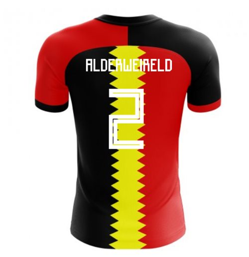 2018-2019 Belgium Flag Concept Football Shirt (Alderweireld 2)