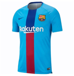 2018-2019 Barcelona Nike Pre-Match Dry Training Shirt (Equator Blue)