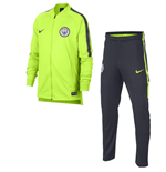 2018-2019 Man City Nike Dry Tracksuit (Volt) - Kids