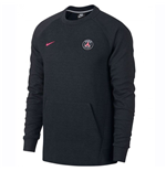 2018-2019 PSG Nike Crew Neck Sweat Top (Black)