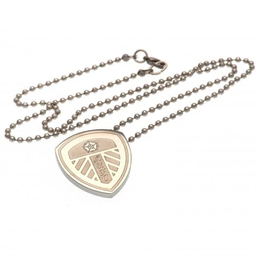 Leeds United F.C. Stainless Steel Pendant & Chain LG