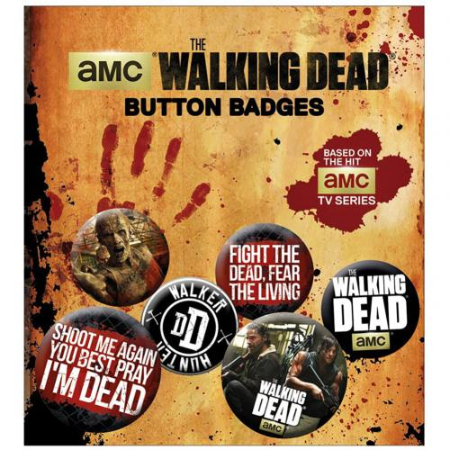 The Walking Dead Button Badge Set Hunter
