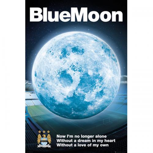Manchester City F.C. Poster Blue Moon 26