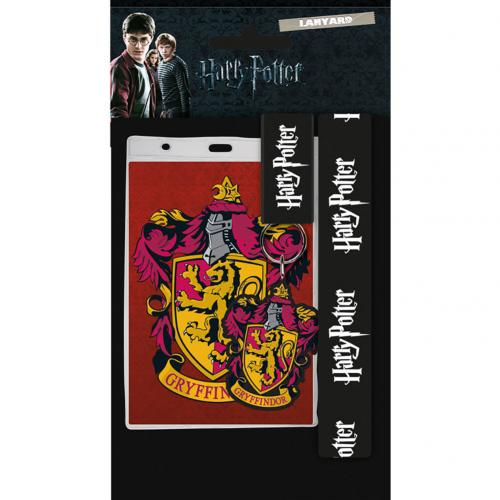Harry Potter Lanyard & Keyring Set Gryffindor