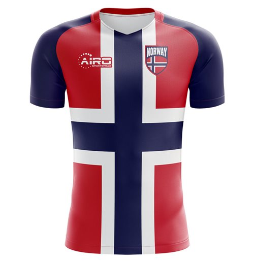 2018-2019 Norway Flag Concept Football Shirt