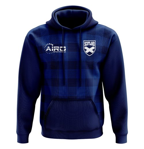 2018-2019 Scotland Tartan Concept Football Hoody