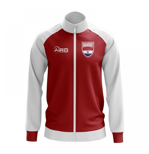 Paraguay Concept Football Track Jacket (Red) - Kids