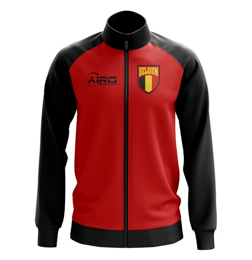Belgium Concept Football Track Jacket (Red) - Kids