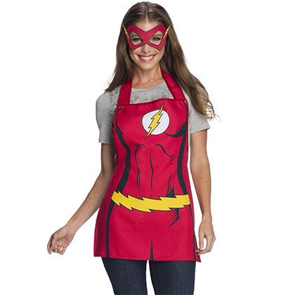 FLASH Adult Red Apron And Mask