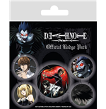 Death Note Pin Badges 5-Pack Characters
