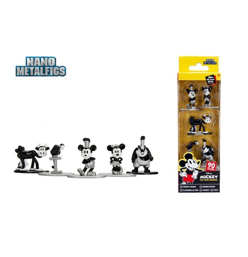 Disney Nano Metalfigs Diecast Mini Figures 5-Pack Mickey's 90th 4 cm