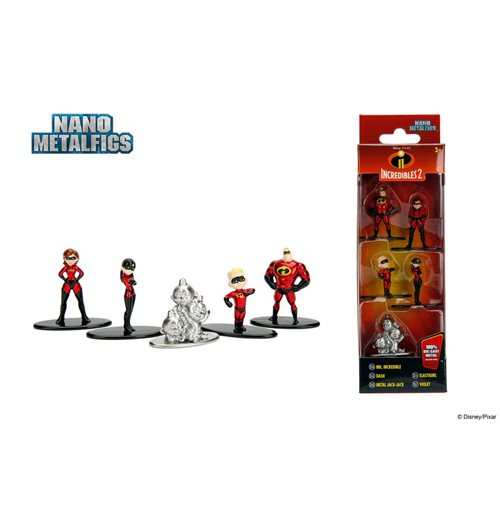 Disney Nano Metalfigs Diecast Mini Figures 5-Pack Incredibles 2 4 cm
