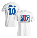 PSG Champions T-Shirt (Your Name) - White