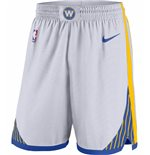 Men's Golden State Warriors Nike White Association Edition Swingman Shorts