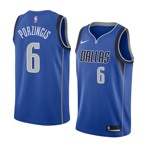 Men's Dallas Mavericks Kristaps Porzingis Nike Icon Edition Swingman Jersey