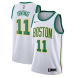 Men's Boston Celtics Kyrie Irving Nike White City Edition Swingman Jersey