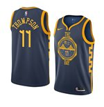 Men's Golden State Warriors Klay Thompson Nike Navy City Edition Swingman Jersey