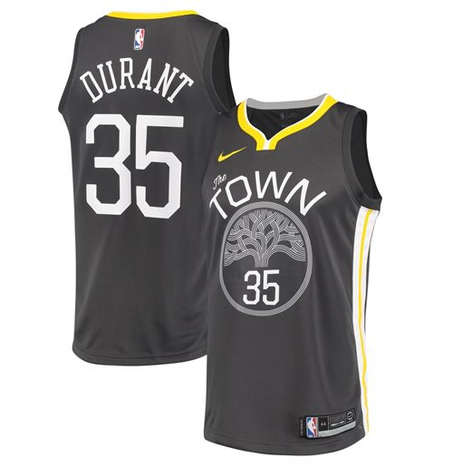 Men's Golden State Warriors Kevin Durant Nike Black Statement Edition Swingman Jersey