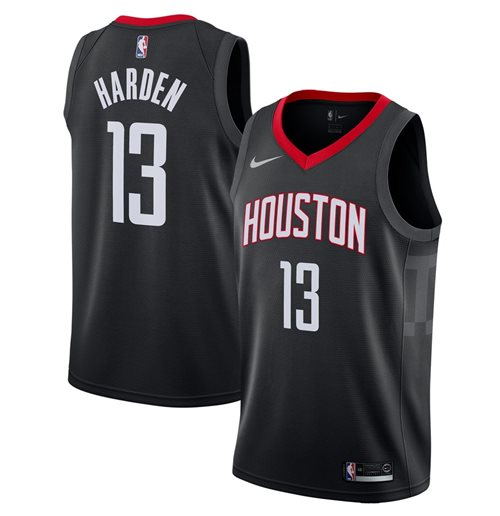 Men's Houston Rockets James Harden Nike Black Statement Edition Swingman Jersey