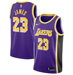 Men's Los Angeles Lakers LeBron James Nike Purple Statement Edition Swingman Jersey