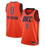 Men's Oklahoma City Thunder Russell Westbrook Nike Orange Earned Edition Swingman Jersey