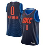 Men's Oklahoma City Thunder Russell Westbrook Nike Navy Statement Edition Swingman Jersey